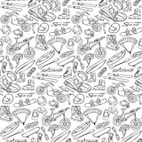 Extreme doodle seamless pattern Stock Photography