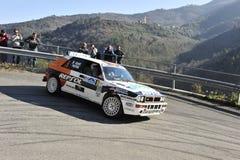 Extreme drift rally Stock Image