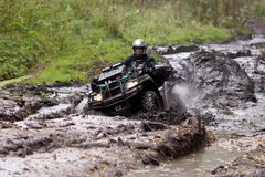 Extreme driving ATV. Royalty Free Stock Image