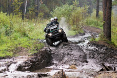 Extreme driving ATV. Royalty Free Stock Images