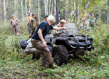 Extreme driving ATV. Stock Photography