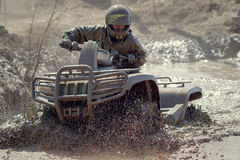 Extreme driving ATV Stock Images