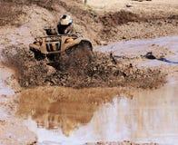 Extreme driving ATV. Royalty Free Stock Image