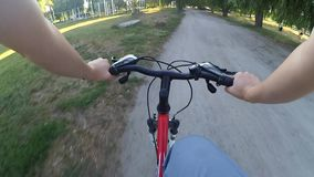 Extreme driving on the bike stock footage