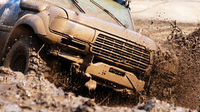 Extreme driving an SUV. Stock Image