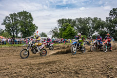 Extreme enduro MOTO SPORT on Start Stock Photo