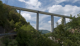 Extreme engineering - Italian motorway Royalty Free Stock Photography