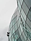 Extreme Fensterreinigungsmittel Lizenzfreie Stockfotos