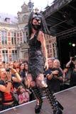 Extreme fetish gothic fashion show stock images
