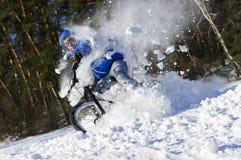 Extreme fietser berijdende fiets stock fotografie