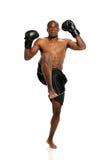 Extreme Fighting Athete kicking Stock Photos