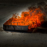 Extreme flame fire smoke in box Royalty Free Stock Photography