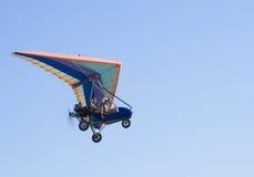 Extreme flight on deltaplane stock photo