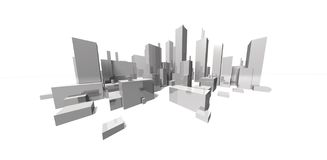 Extreme focal cityscape - skyline Stock Images