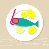 Extreme fresh fish Stock Image