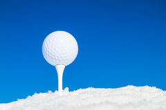 Extreme Golf in winter Stock Photography