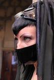 Extreme gothic fashion stock photos