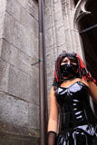 Extreme gothic girl fashion stock photos