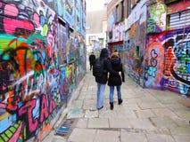 Grafitti on building walls Stock Photography