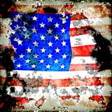 Extreme Grunge Star Spangled Banner. A really worn and aged American flag square design Royalty Free Stock Photos