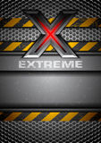 Extreme. Grungy metal background with the letter X Royalty Free Stock Photos