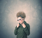 Extreme hair style young woman portrait Royalty Free Stock Image