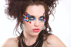 Extreme High Fashion Conceptual Beauty Image Royalty Free Stock Photo
