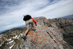 Extreme hiking Stock Photo