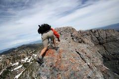 Extreme Hiking Stock Photo