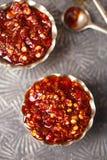 Extreme hot asian chillies garlic sauce Stock Photo