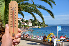 Extreme hot summer warning Royalty Free Stock Images