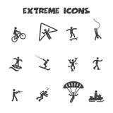 Extreme icons. Mono vector symbols Stock Photos