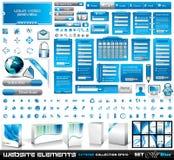EXTREME inzameling 2 van de Elementen van het Web Al Blauw Stock Afbeelding