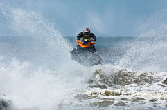 Extreme  jet-ski watersports Royalty Free Stock Image