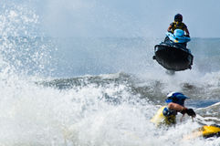 Extreme  jet-ski watersports Royalty Free Stock Photography
