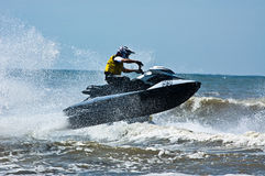 Extreme  jet-ski watersports Royalty Free Stock Photo