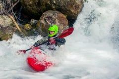 Extreme kayaking Stock Photography