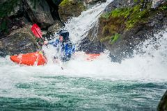 Extreme kayaking Royalty Free Stock Images