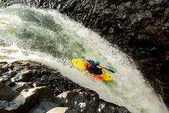 Extreme Kayaking in Ecuador Stock Afbeelding
