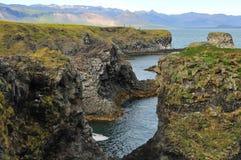Extreme landschapsvormen in IJsland Royalty-vrije Stock Foto's