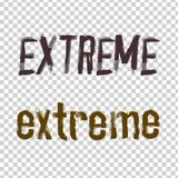 Extreme Lettering Image Royalty Free Stock Images