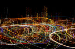 Extreme lights. Lights at night in an abstract style from a place called Denia in Spain Stock Photography