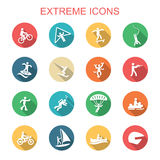 Extreme long shadow icons Stock Images