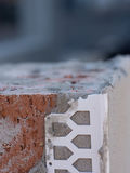 Extreme macro of brickwork and cement render Royalty Free Stock Photos