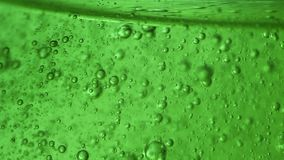 Extreme macro of gel. Bubbles in gel extreme macro stock footage