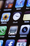 IPhone 4 - Apps Macro Royalty Free Stock Photo