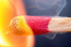 Extreme macro of match igniting Royalty Free Stock Images