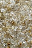 Extreme macro shot of beach sand. Actual length of the frame is less than half inch Stock Photography