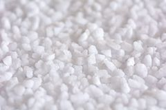 Salt crystals macro Stock Image