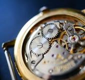 Extreme macro shot of watch mechanism Stock Photo